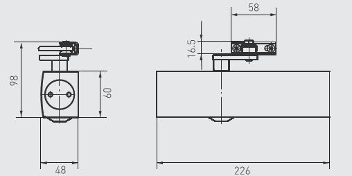 g 103407 geze ts 2000 v universal door closer silver. Black Bedroom Furniture Sets. Home Design Ideas